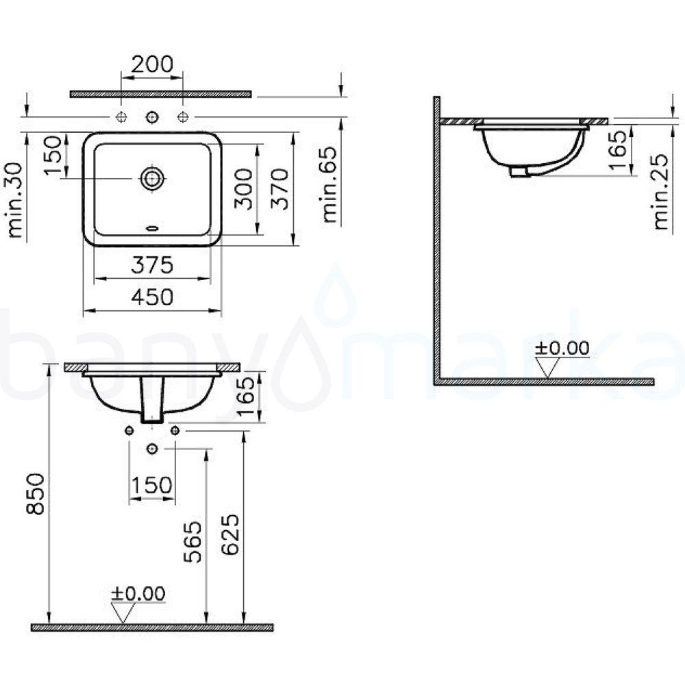 vitra s20 tezgah alt lavabo 38 cm 5473b003 0618 online sat banyomarka. Black Bedroom Furniture Sets. Home Design Ideas
